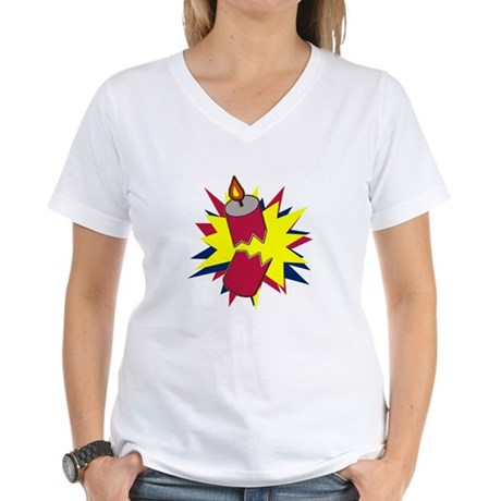 Firecracker Women's V-Neck T-Shirt