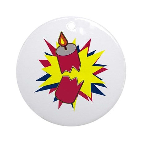 Firecracker Ornament (Round)