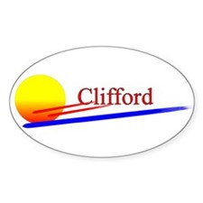Clifford Oval Decal