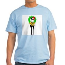 JINGLE MY BELLS MENS LIGHT BLUE TEE