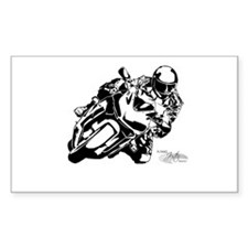 Sportbike Motorcycle Rectangle Decal