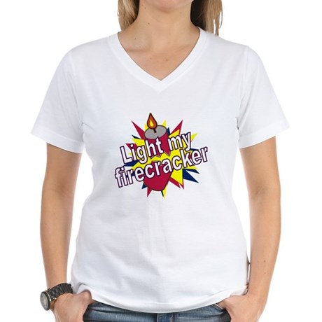 Light my Fire Women's V-Neck T-Shirt