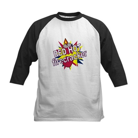 Red Hot Firecracker Kids Baseball Jersey