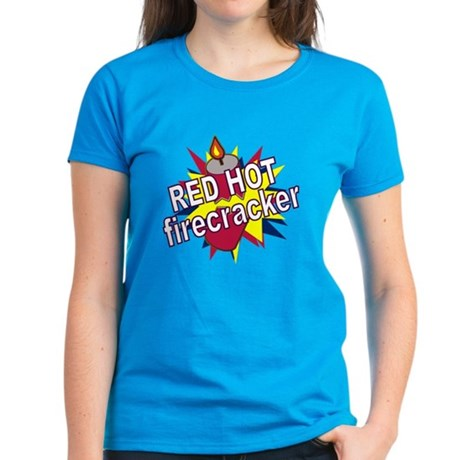 Red Hot Firecracker Women's Dark T-Shirt