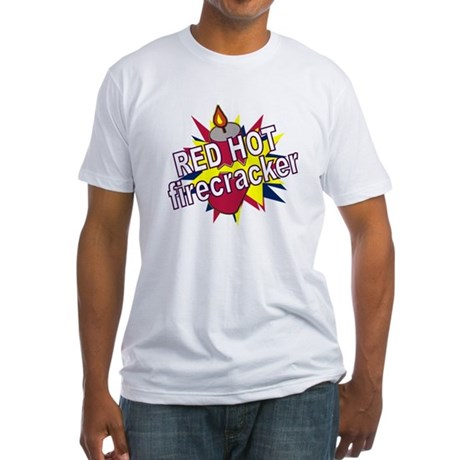 Red Hot Firecracker Fitted T-Shirt