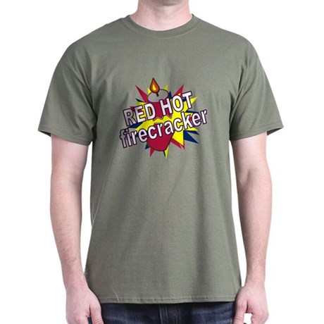 Red Hot Firecracker Dark T-Shirt