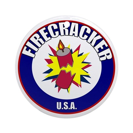 USA Firecracker Ornament (Round)