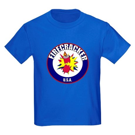 USA Firecracker Kids Dark T-Shirt