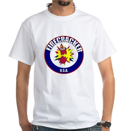 USA Firecracker White T-Shirt