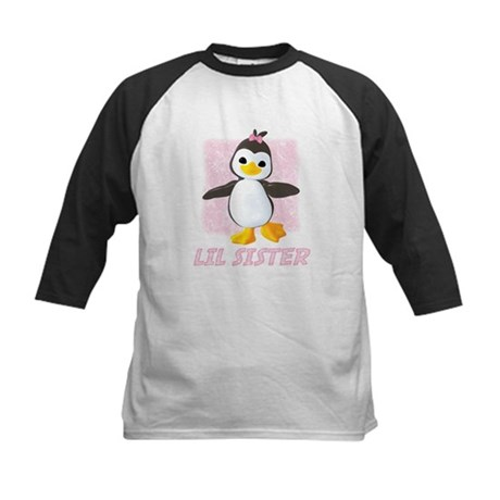 Happy Penguin Little Sister Kids Baseball Jersey