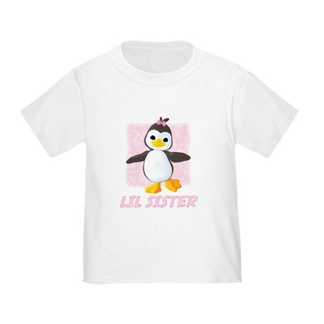 Happy Penguin Little Sister Toddler T-Shirt