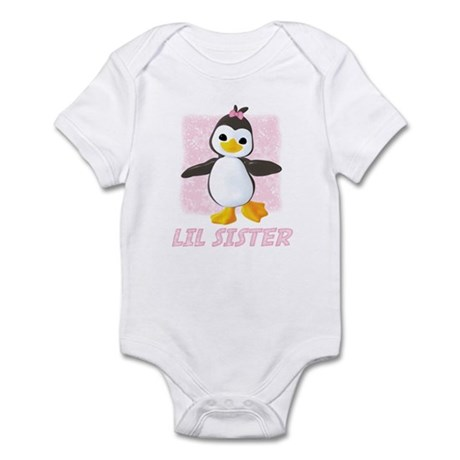 Happy Penguin Little Sister Infant Bodysuit