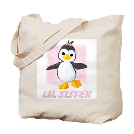 Happy Penguin Little Sister Tote Bag