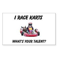 I Race Karts Decal