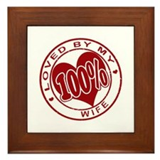 """100% Loved"" [Wife] Framed Tile"