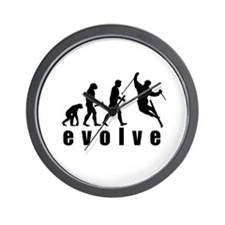Evolve Skiing Wall Clock
