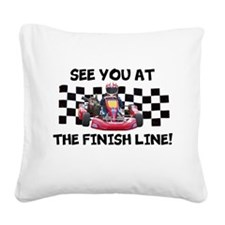 Finish Line Square Canvas Pillow