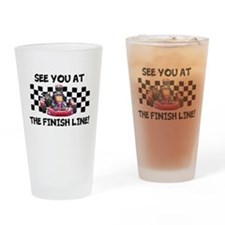Finish Line Drinking Glass
