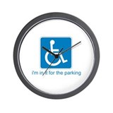 Handicapped for Parking Wall Clock