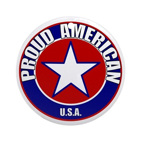 Proud American Ornament (Round)
