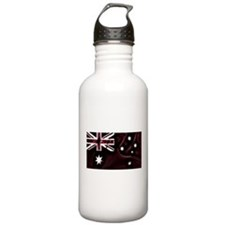 Australian Flag - Red washed Sports Water Bottle