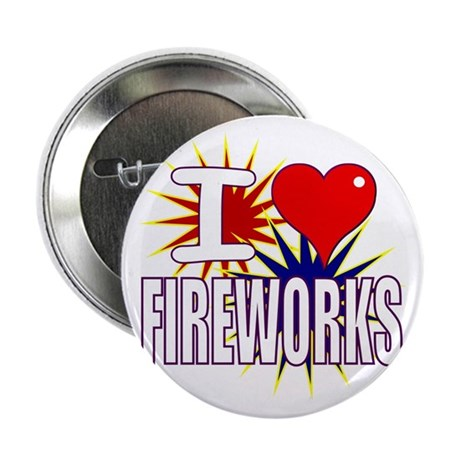 "I heart fireworks 2.25"" Button (10 pack)"
