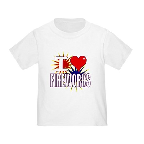 I heart fireworks Toddler T-Shirt