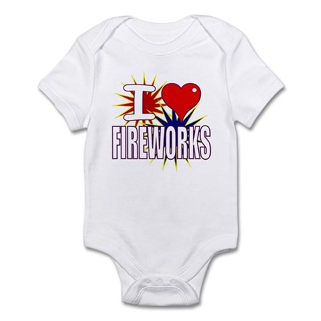 I heart fireworks Infant Bodysuit
