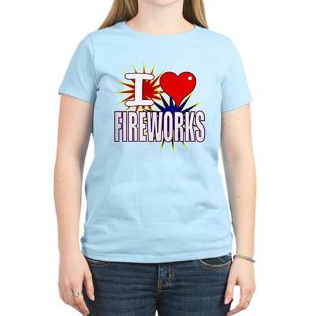 I heart fireworks Women's Light T-Shirt