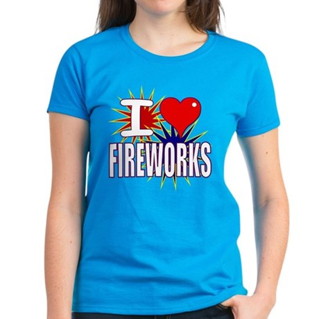 I heart fireworks Women's Dark T-Shirt