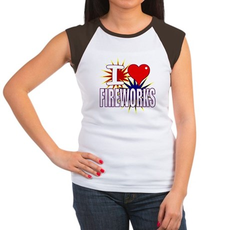 I heart fireworks Women's Cap Sleeve T-Shirt