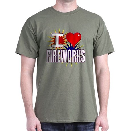 I heart fireworks Dark T-Shirt
