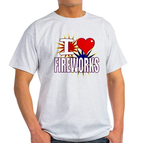 I heart fireworks Light T-Shirt