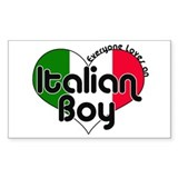 Everyone Loves an Italian Boy Sticker (Rectangular
