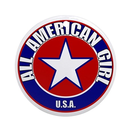 All American Girl Ornament (Round)