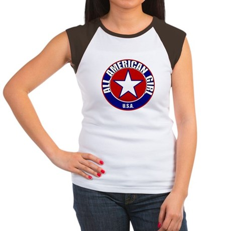 All American Girl Women's Cap Sleeve T-Shirt