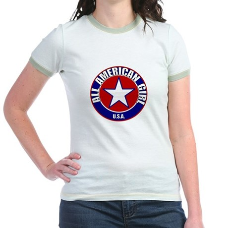 All American Girl Jr. Ringer T-Shirt