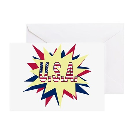 Starburst USA Greeting Cards (Pk of 10)