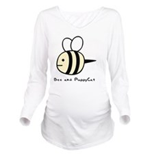 Bee and PuppyCat Long Sleeve Maternity T-Shirt