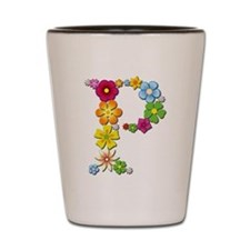 P Bright Flowers Shot Glass