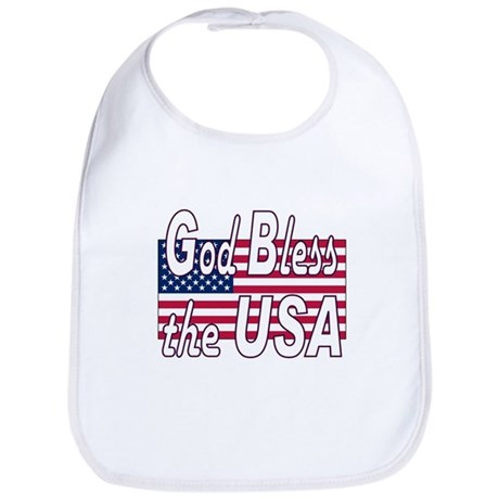 God Bless the USA Bib