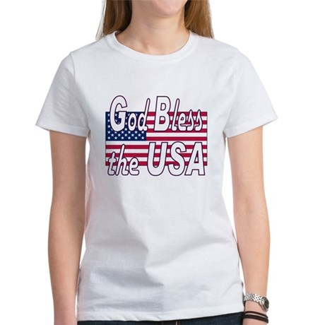 God Bless the USA Women's T-Shirt