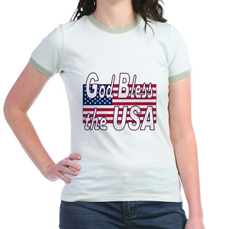 God Bless the USA Jr. Ringer T-Shirt