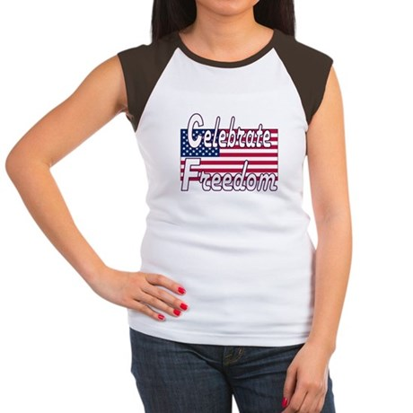 Celebrate Freedom Women's Cap Sleeve T-Shirt