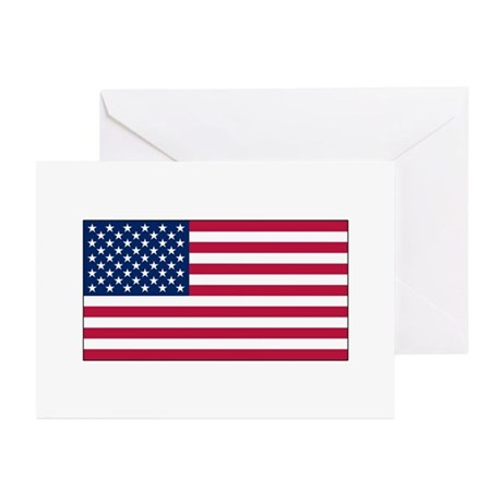 USA Flag Greeting Cards (Pk of 10)