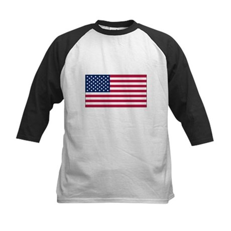 USA Flag Kids Baseball Jersey