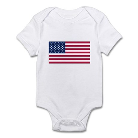 USA Flag Infant Bodysuit