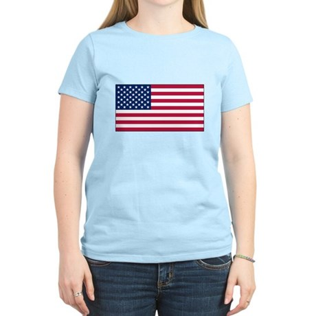 USA Flag Women's Light T-Shirt
