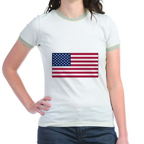 USA Flag Jr. Ringer T-Shirt