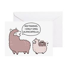 Acapella Humor Greeting Card